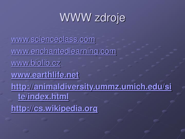 WWW zdroje