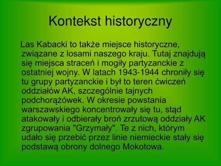 Kontekst historyczny