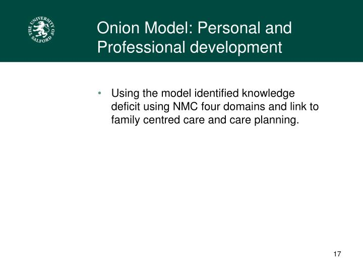 Onion Model: Personal and Professional development