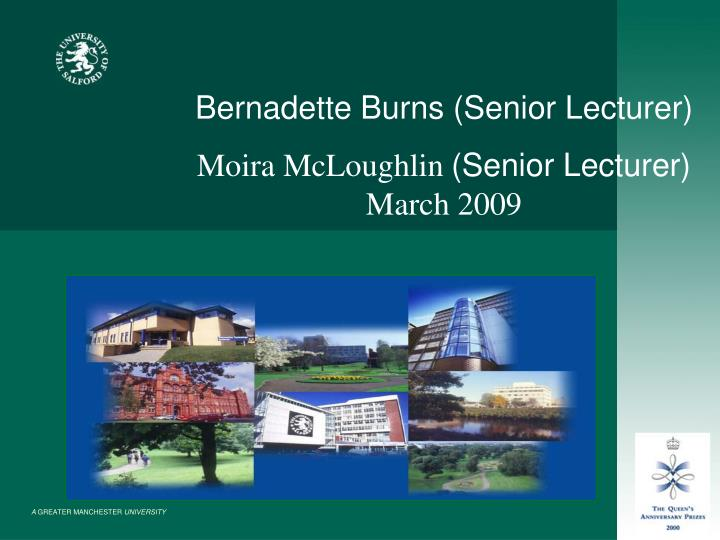 Bernadette Burns (Senior Lecturer)