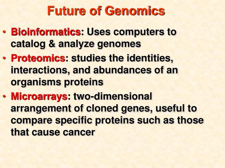 Future of Genomics