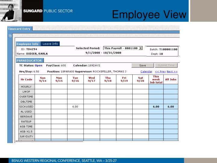 Employee View