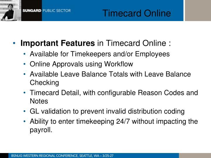 Timecard Online