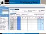 timekeeper view