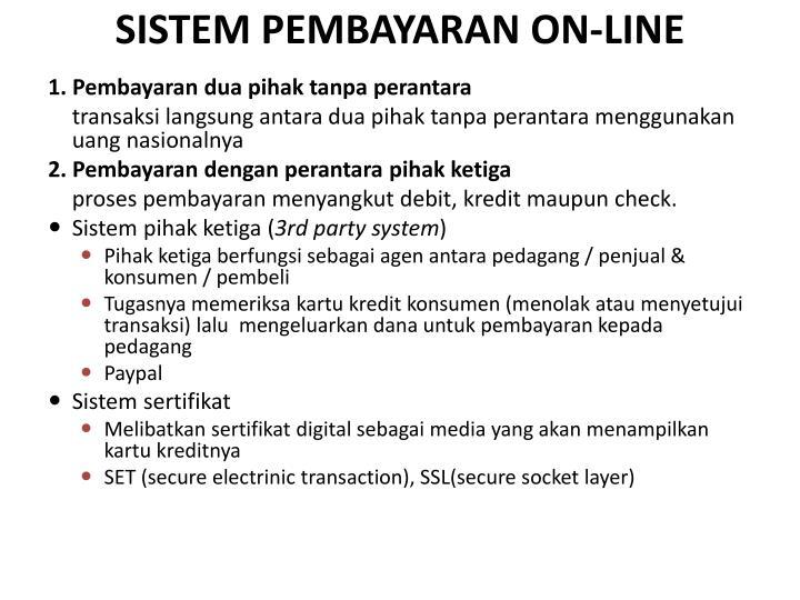 SISTEM PEMBAYARAN ON-LINE