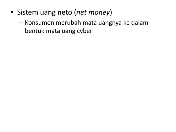 Sistem uang neto (