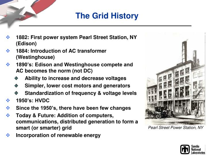 The grid history