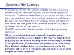 caroline s fba summary1