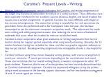 caroline s present levels writing