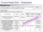 caroline sample grid employment
