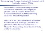 connecting steps transition process in iep sections ii and iii present ed levels to grid