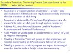 secondary transition connecting present education levels to the grid what we ve learned