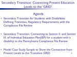 secondary transition connecting present education levels to the grid1