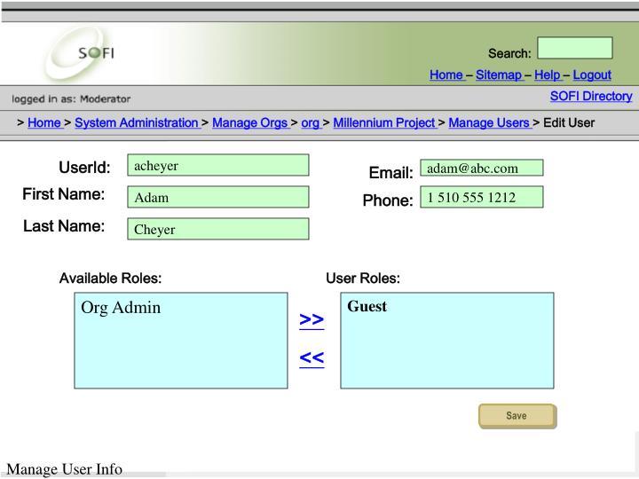 SOFI Directory