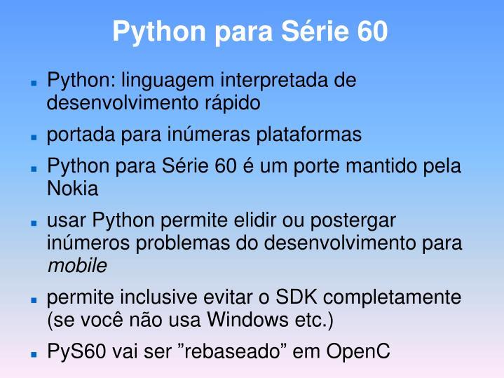 Python para Série 60