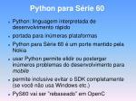 python para s rie 60