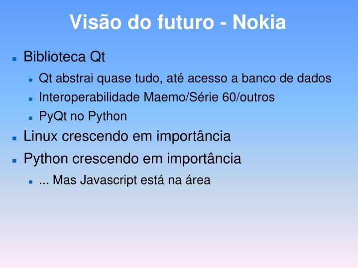 Visão do futuro - Nokia