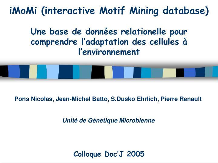 iMoMi (interactive Motif Mining database)