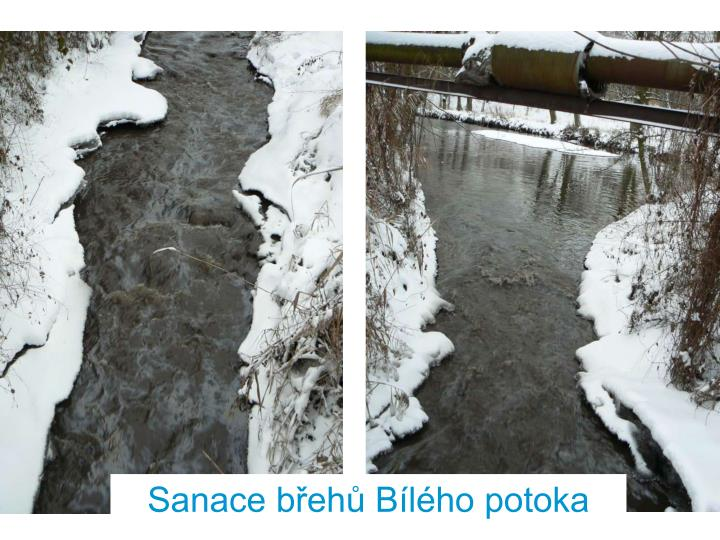 Sanace břehů Bílého potoka