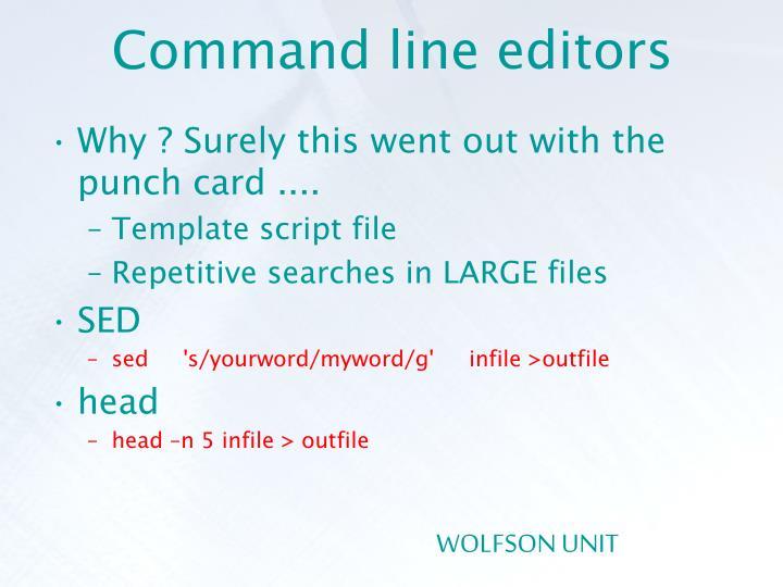 Command line editors