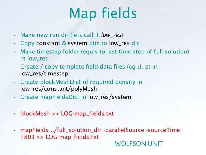 Map fields