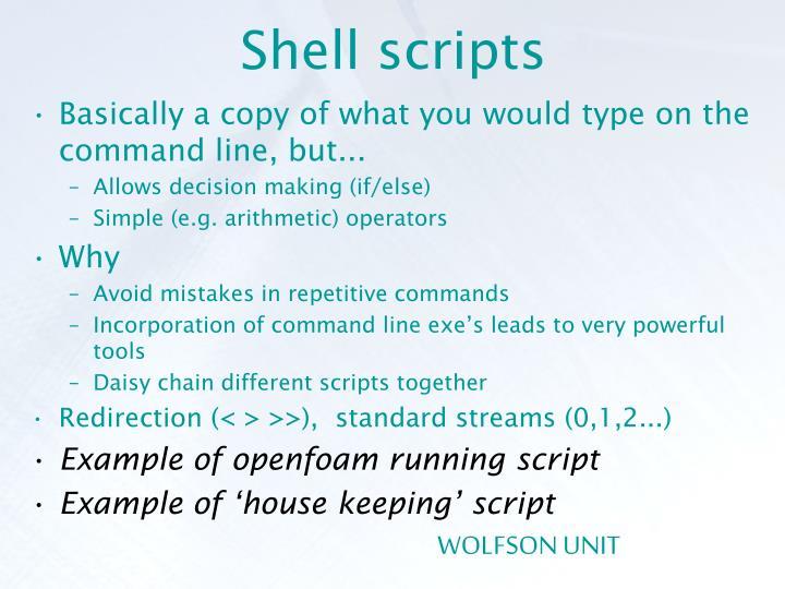Shell scripts