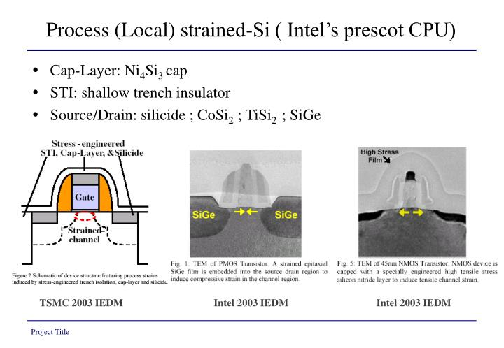 Process (Local) strained-Si ( Intel's prescot CPU)