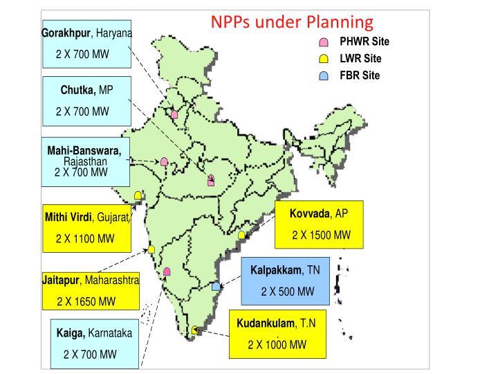 NPPs under Planning