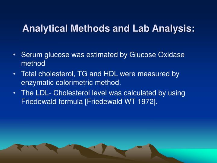 Analytical Methods and Lab Analysis: