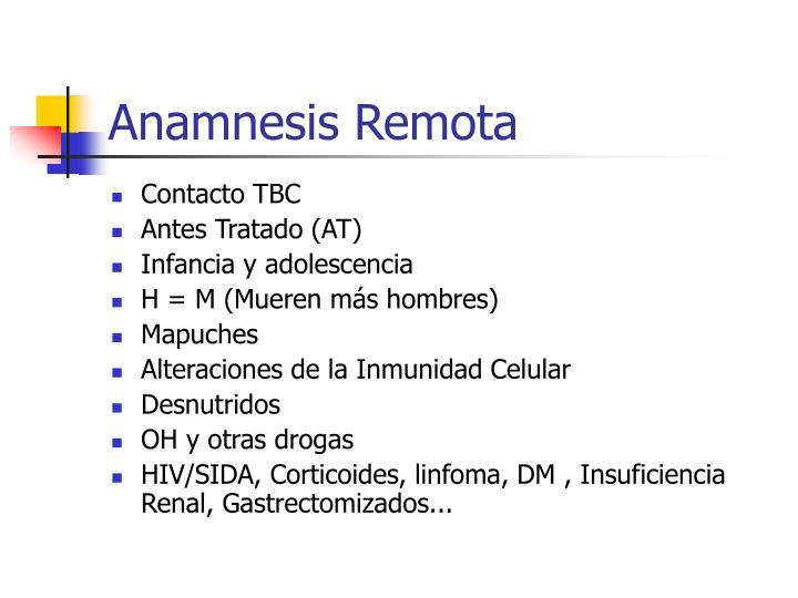 Anamnesis Remota