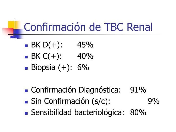 Confirmación de TBC Renal