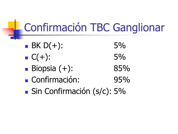 Confirmación TBC Ganglionar