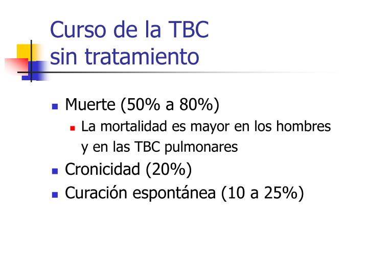 Curso de la TBC