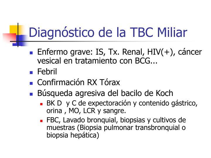 Diagnóstico de la TBC Miliar