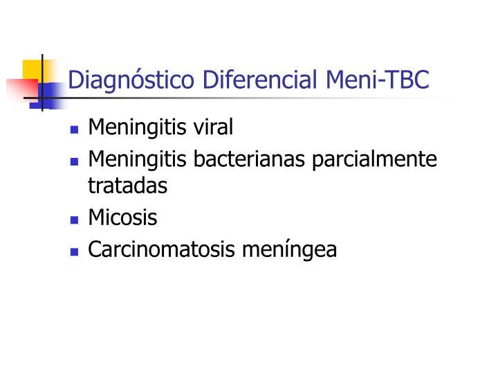 Diagnóstico Diferencial Meni-TBC
