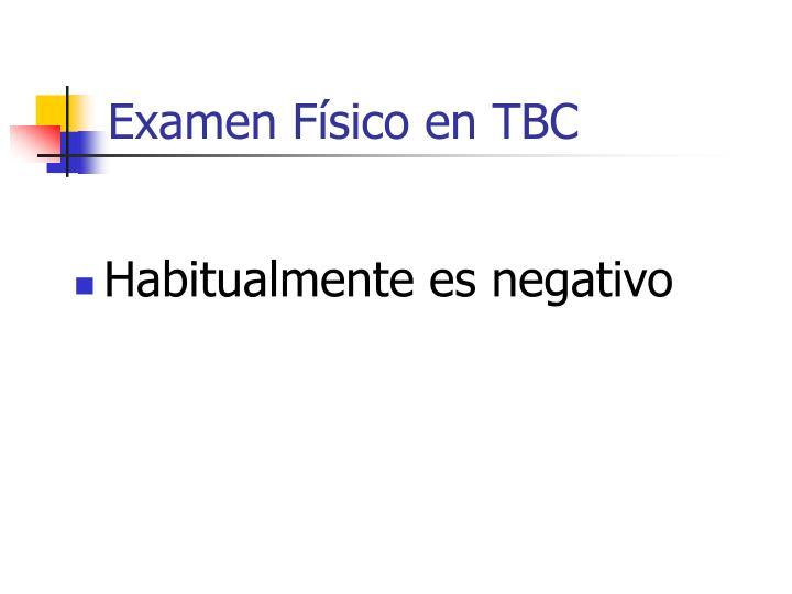 Examen Físico en TBC