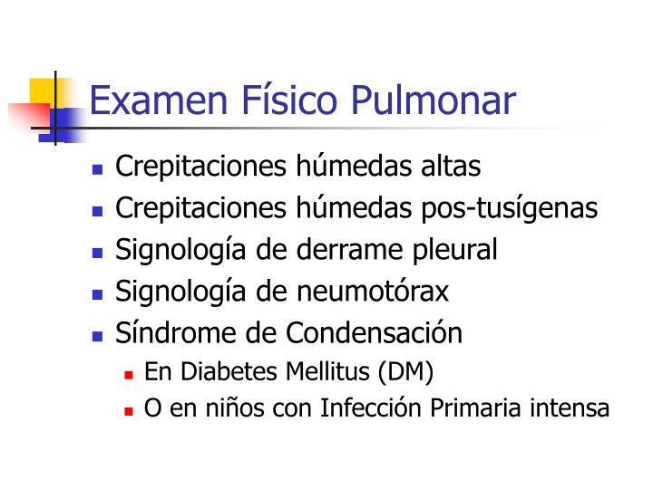 Examen Físico Pulmonar