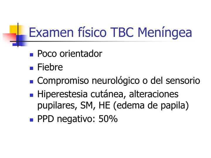 Examen físico TBC Meníngea