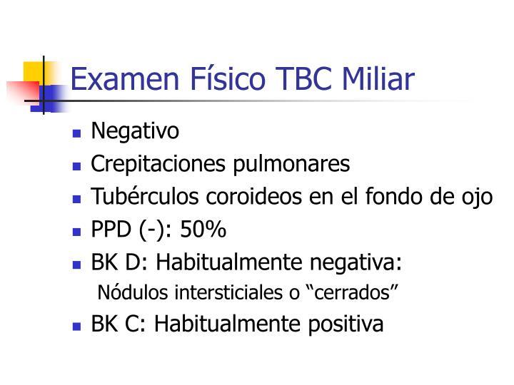 Examen Físico TBC Miliar