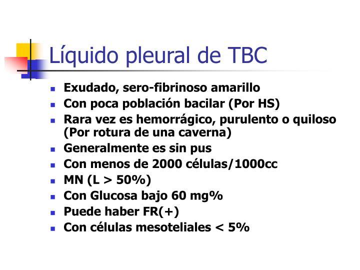Líquido pleural de TBC