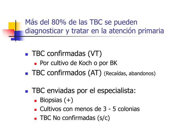 Más del 80% de las TBC se pueden  diagnosticar y tratar en la atención primaria