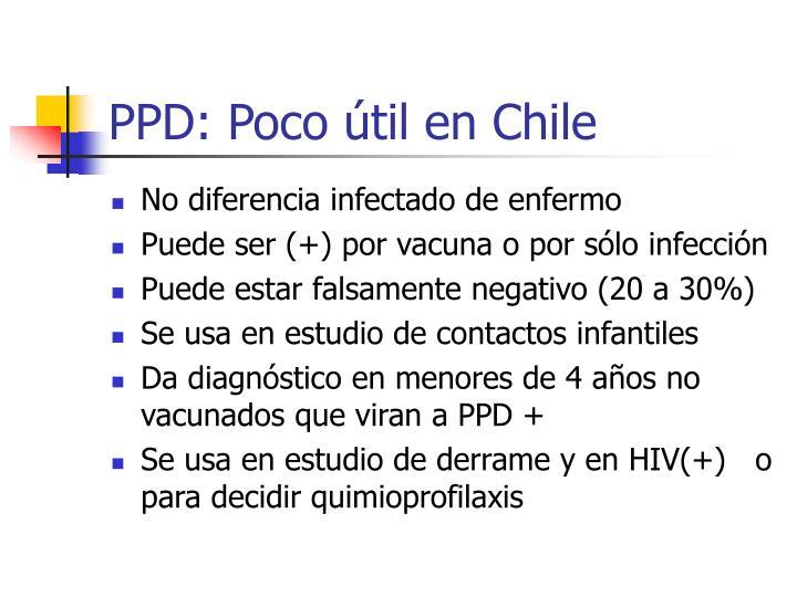 PPD: Poco útil en Chile