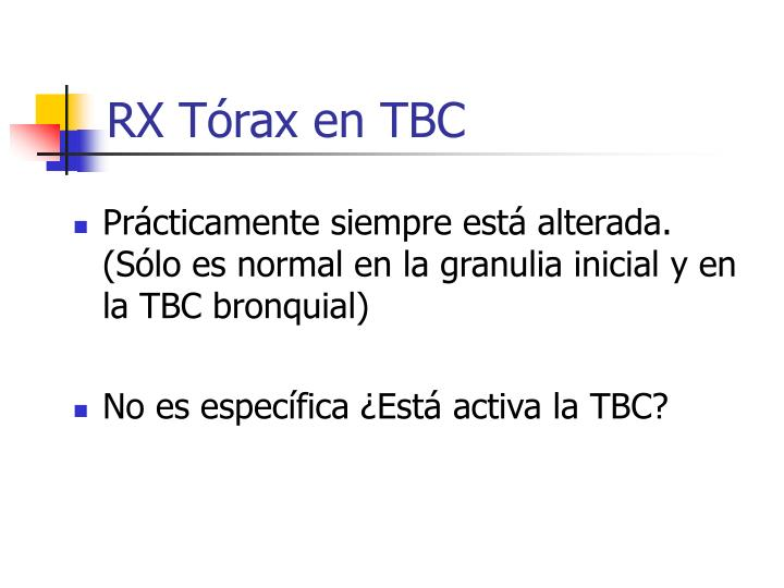 RX Tórax en TBC
