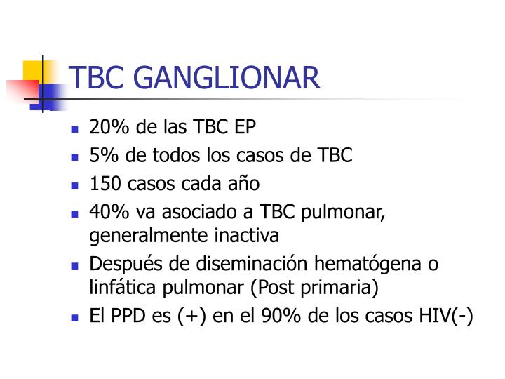 TBC GANGLIONAR
