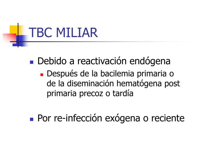 TBC MILIAR