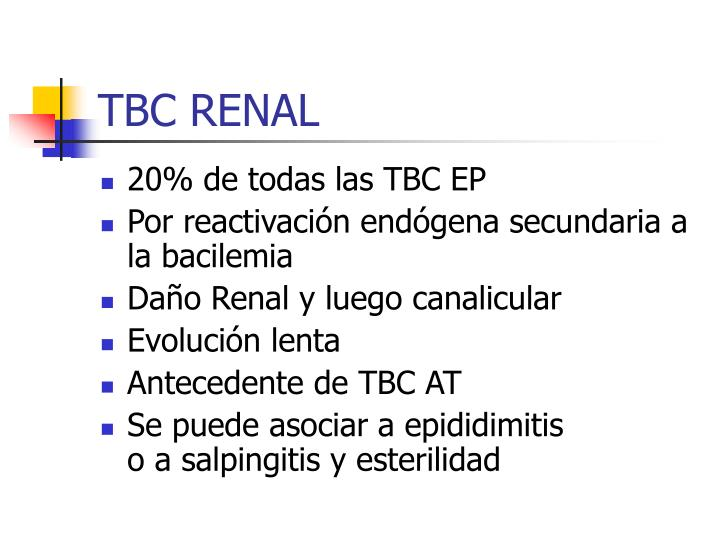TBC RENAL