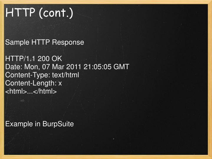 HTTP (cont.)
