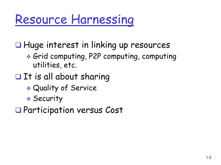 Resource Harnessing