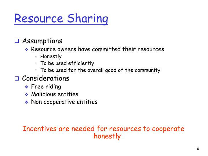 Resource Sharing