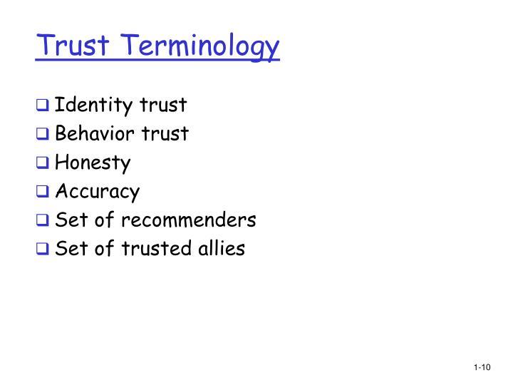 Trust Terminology